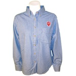 "Light Blue Indiana ""IU"" Button Down Women's Denim Shirt"