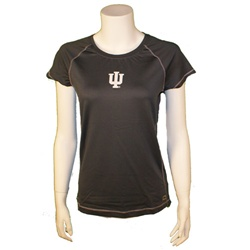 "Ladies Graphite Performance ""Cool Fit"" Indiana IU ALO T-Shirt"