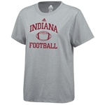 MEN'S Indiana Football Grey Practice T-Shirt from ADIDAS