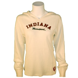 Women's Hooded Indiana Hoosiers Thermal Hooded Pullover