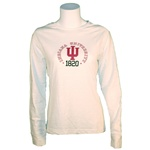 "Ladies ""Mercury"" White Indiana Hoosiers ""Slub"" Cotton T-Shirt"