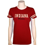 "Women's ""Harvest"" Indiana Hoosiers T-Shirt with Double Striped Sleeves"