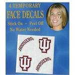 "Indiana Hoosiers ""IU"" Temporary Face Decals"