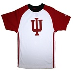 "ADIDAS Youth Three Stripe Raglan Indiana ""IU"" T-Shirt"