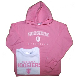 ADIDAS Girls Pink Indiana Sweatshirt and T-Shirt Combo