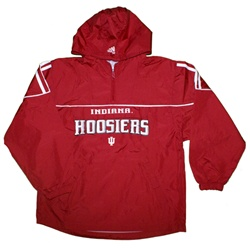 ADIDAS Youth Crimson Indiana Hooded Wind Jacket