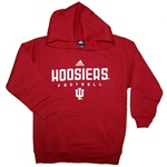 ADIDAS Youth Crimson INDIANA Football Hooded Sweatshirt