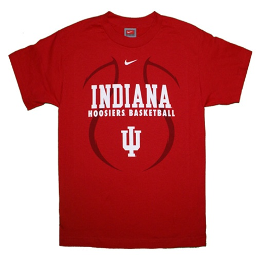 Nike Crimson Indiana Hoosiers Basketball Youth T Shirt