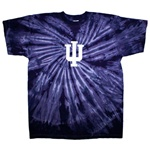 "Youth Purple Spiral INDIANA ""IU"" Tie Dye T-Shirt"