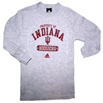 "ADIDAS YOUTH ""Property Of"" Indiana Hoosiers Thermal Waffle Longsleeve Shirt"