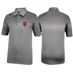 "ADIDAS Silver Grey Indiana ""IU"" Sideline Coaches Series Polo"