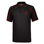 "ADIDAS ""Climalite"" Black Performance Indiana ""IU"" Sideline Polo"