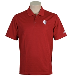 ADIDAS Victory Red Classic Moisture Wicking Indiana Golf Shirt