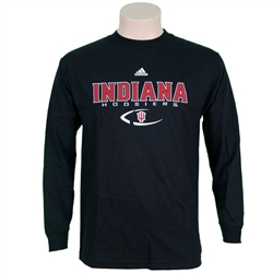 "ADIDAS Black ""Indiana Dash Football"" Graphic Long Sleeve-Shirt"