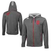 Adidas IU Men's Full Zip Hooded Fleece Sweatshirt