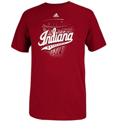"ADIDAS Crimson Indiana ""Nothing but Net"" Basketball T-Shirt"