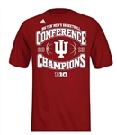 ADIDAS CRIMSON Indiana IU 2013 Big 10 Season Championship T-Shirt