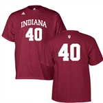 ADIDAS Crimson Indiana #40 Basketball Jersey T-Shirt