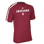 ADIDAS Crimson INDIANA IU Sideline Swagger Climalite Short Sleeved Technical Tee