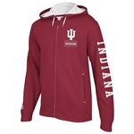 Adidas IU Hoosiers Men's Pride Full Zip Hooded Fleece Sweatshirt