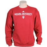 Crimson ADIDAS Indiana University Crew Neck Sweatshirt