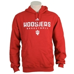 "Crimson ADIDAS Hoosiers Basketball ""Sideline"" Hooded Sweatshirt"