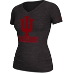 "Women's ADIDAS Black Heather IU ""Player Athletics"" T-Shirt"