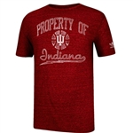 ADIDAS INDIANA IU Old Timer Basketball Tri-Blend Short Sleeved T-Shirt