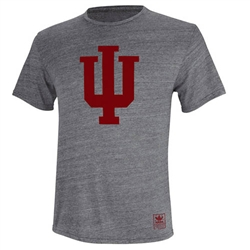 "ADIDAS Grey INDIANA ""Big IU"" Short Sleeved T-Shirt"