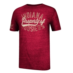 ADIDAS INDIANA HOOSIERS 'First Division' Tri-Blend Short Sleeved T-Shirt