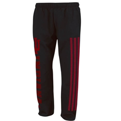 ADIDAS Black IU INDIANA 'Meshed Out' Fleece Sweatpants
