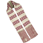ADIDAS Crimson and Oatmeal Aztec Pattern Campus 'IU' Scarf