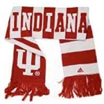 ADIDAS Crimson and White Striped Indiana Hoosiers Scarf