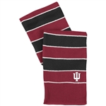 ADIDAS Crimson and Black Striped Varsity 'IU' Scarf