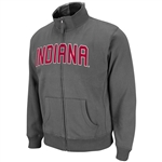Indiana Hoosiers Charcoal Grey Zipper Passport Jacket by Colosseum