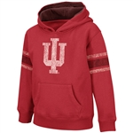 Indiana Kids 4-7 Crimson Vintage Fullback Hooded Sweatshirt from Colosseum