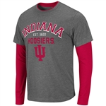 Indiana Venture Double Layer Long Sleeve T-Shirt - Charcoal