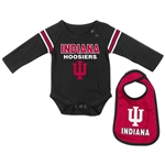 "Indiana Infant ""Bleacher"" Bib and Long sleeve Onesie Set from Colosseum"