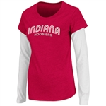 Colosseum Athletics Women's Indiana Cascade Double Layer T-shirt