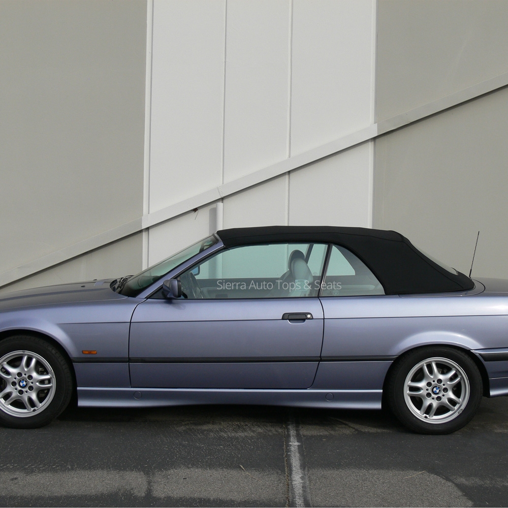 Black BMW 3-Series Convertible Top With Plastic Window