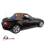 BMW Z3 Convertible Top in Saddle Vinyl with plastic window