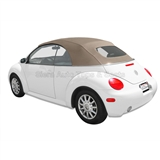 VV Beetle Convertible Top, German A5, Cream, Power Opening Top Frame