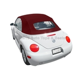 VW Beetle Convertible Top, Stayfast,Burgundy