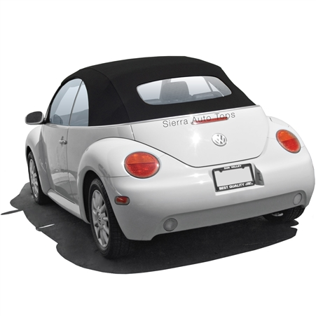 VV Beetle Convertible Top, German A5, Black, Manual Opening Top Frames