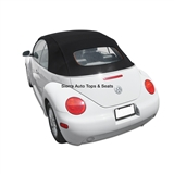 VW Beetle Convertible Top, Twillfast RPC,Black
