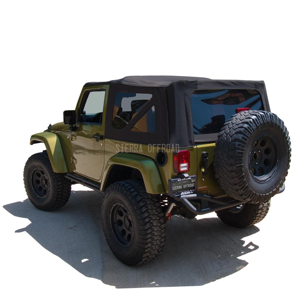 2007 2009 jeep wrangler 2 door jk black sailcloth soft top. Black Bedroom Furniture Sets. Home Design Ideas