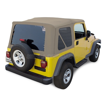 Sierra Offroad Soft Top for Jeep Wrangler - Parchment Sailcloth