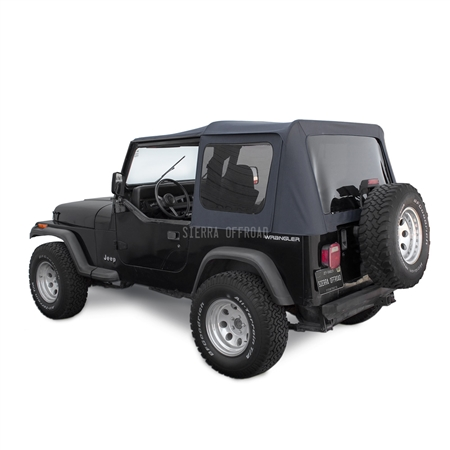 Sierra Offroad Jeep Wrangler YJ Soft Top 88-95 in Black Denim Tinted Windows