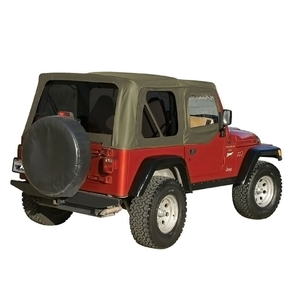 Jeep Wrangler Replacement Soft Top >> Jeep,Soft Top,OEM Replacement,w/Door Skins,1997-2006, Wrangler,Khaki Diamond