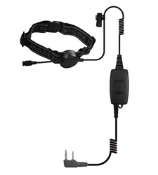 Whisper Throat Mic  K1 - All Black Diamond Kenwood 2-Pin